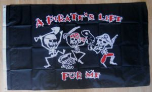 Pirate A Pirate's Life for Me Large Flag - 5' x 3'.